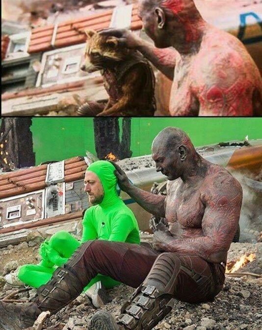 """Cả phân cảnh cực kỳ cảm động khi Drax an ủi Rocket sau cái chết của Groot cũng nhanh chóng bị ảnh hậu trưởng """"tàn phá không thương tiếc""""."""