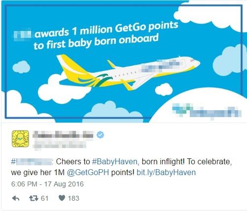 Lời nhắn được đăng lên trang fanpage của hàng hàng không.