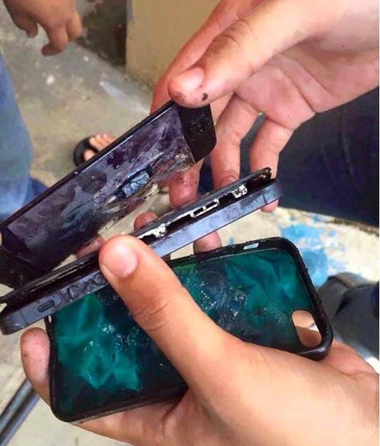 iPhone quá nóng có thể dẫn đến cháy nổ. (Ảnh: internet)