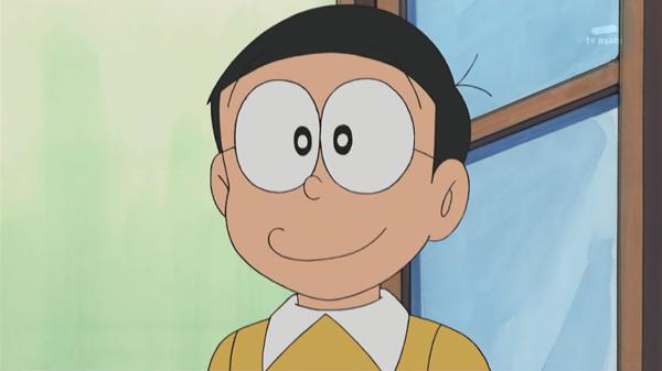 Mái tóc ngố tàu, mắt kính dày cộp to che mất nửa gương mặtcùng cái mũi nhỏ tin hin như hạt đậu là đặc điểm nhận dạng anh chàng Nobita.