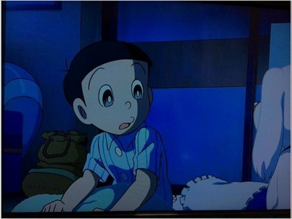 Thật ngạc nhiên! Nobita sở hữu đôi mắt to tròn, long lanh dễ thương chẳng thua kém một nhân vật nào.