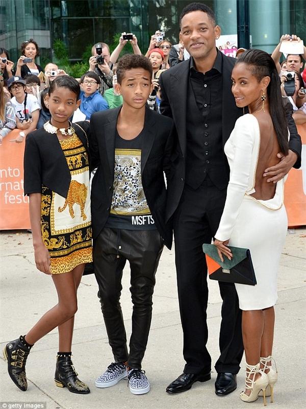 Gia đình Will Smith với cả 4 thành viên đều hoạt động trong lĩnh vực nghệ thuật.