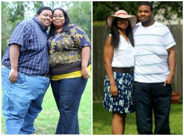 Trong vòng hai năm, cặp đôi này đã giảm được gần 250kg.