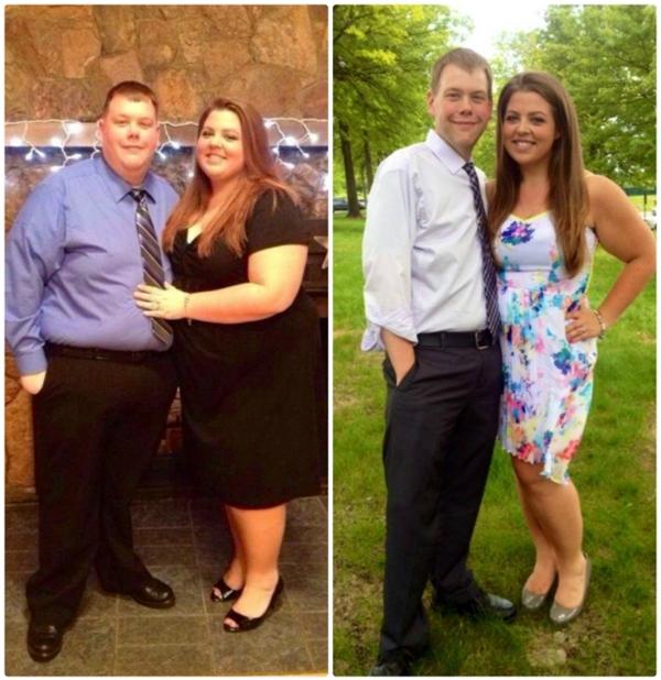Danny và Kalean quyết định cùng nhau thay đổi lối sống lành mạnh và kết quả là họ đã giảm được 160kg.