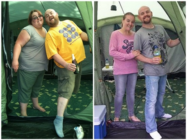 Joanne và Barry quyết định bỏ thói quen ăn thức ăn nhanhvà họ giảm được tổng cộng 315kg.