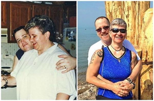 Họ đã cùng nhau giảm được 100kg mỗi người.