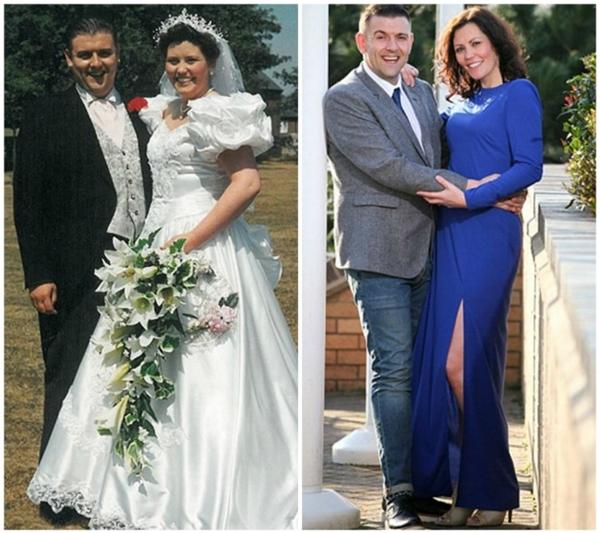 Cặp đôi này đã giảm gần 70kg. Việc giảm cân đã giúp họ trông trẻ hơn so với năm 1994.