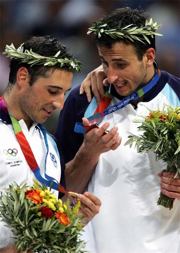 Manu Ginobili tại Olympic Athens 2004.(Ảnh: Internet)