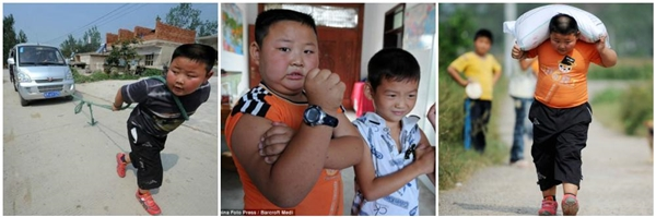 Cậu bé siêu khỏe Yang Jinlong