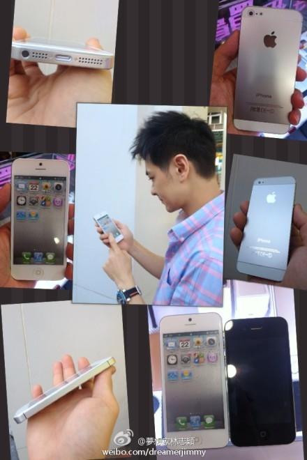 iPhone 5 trên tay Lâm Chí Dĩnh. (Ảnh: internet)