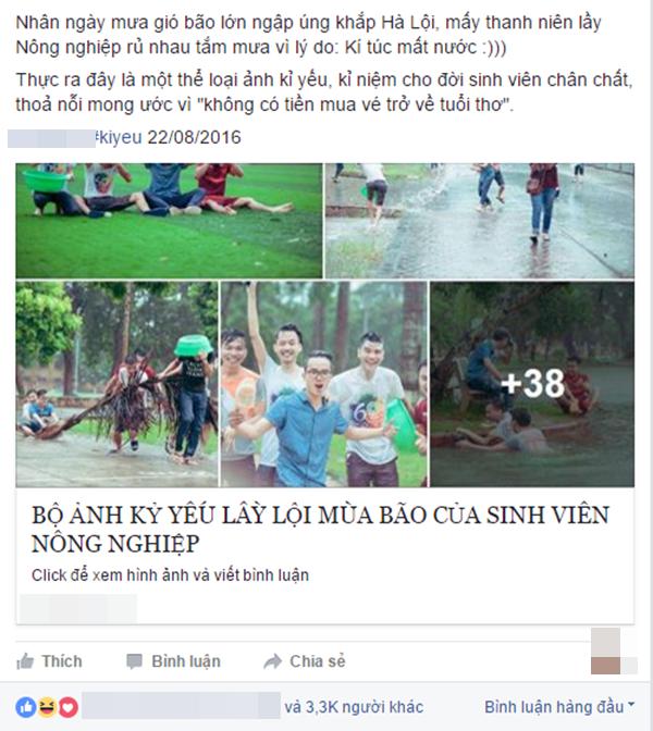 Bài đăng bộ ảnh của các bạn trẻ trênmột trang mạng nổi tiếng. (Ảnh: Internet)