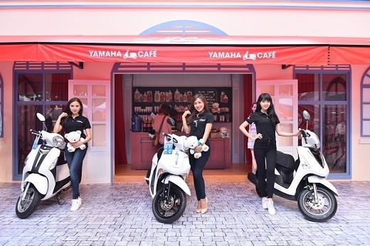 Những chiếc xe ga thời thượng và phong cách hội tụ tại Yamaha Café.