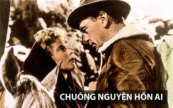 Bộ phim Chuông nguyện hồn ai chuyển thể dựa trên cuốn tiểu thuyết cùng tênđược xuất bản năm 1940 của nhà văn Mỹ Ernest Miller Hermingway. Bộ phim xoay quanh nhân vật Robert Jordan, một giáo viên tiếng Tây Ban Nha ngườiMỹ thuộcLữ đoàn quốc tế, tham gia chống phát-xít trong nội chiến Tây Ban Nha. Trong khitham gia vào nhóm du kích của Pablo để chỉ huy việc đánh một cây cầu, anh tình cờ gặp đượcMaría, một nữ du kích người Tây Ban Nha. Tình yêu nảy nởnơi bom rơi đạn lạc khiến họ nhận thứcsâu sắc hơn những ý nghĩacuộc sống vàviệc họ đang chiến đấu.