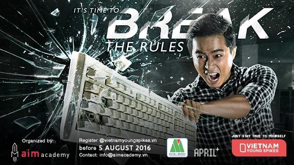 Với chủ đề Break the rules, Vietnam Young Spikes 2016 tiếp tục đề cao sự bứt phá giới hạn của các thí sinh.