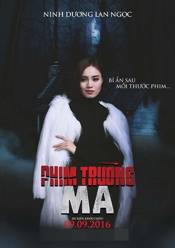 Ninh Dương Lan Ngọc trong vai trò nữ diễn viên chính bị mất tích của đoàn làm phim lại gây tò mò bởi nụ cười mỉm chi bí hiểm.