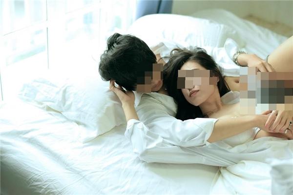 """Bộ ảnh""""giường chiếu"""" của cặp đôi Thái Lan. (Ảnh: Internet)"""
