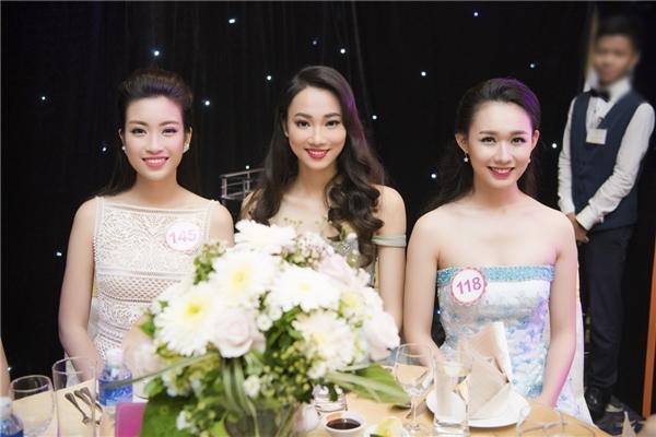 Một vài thí sinh của đêm chung kết 6Hoa hậu Việt Nam 2016.
