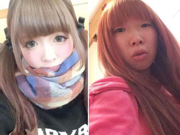 Thế nhưng, 3 tháng sau khi có người yêu, trong dịp Giáng sinh đi chơi cùng bạn trai, cô gái này đã quyết định không trang điểm. Và rồi, gương mặt khác biệt của cô gái khiến anh người yêu không thể nhận ra.