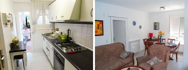 Mặc dù căn hộ của người Tây Ban Nha có nhà bếp khá rộng nhưng họ chỉ dùng nó cho việc nấu nướng trong khi các bữa ăn thường được phục vụ trong phòng khách.