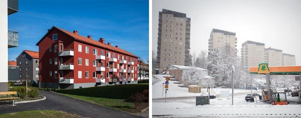 Một khu dân cư điển hình ở Thụy Điển trông như thế này.
