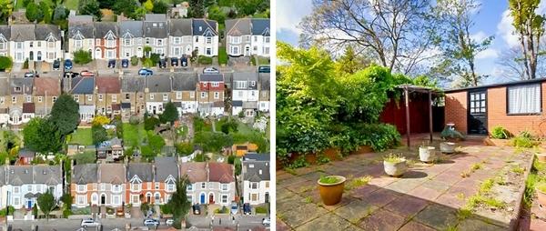 Hầu hết người Anh đều không muốn sốngtrong các căn hộ chung cư chật chội và đông đúc. Thay vào đó, họ thích sống ở ngoại ô thành phố trong những ngôi nhà có không gian thoáng đãng như thế này.