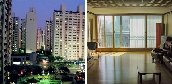 Hơn 80% dân số Hàn Quốc đang sống trong các tòa nhà chung cư cao tầng. Điều đặc biệt nhất ở đây là bạn vẫn có thể thấy được số của các tòa chung cư đó từ rất xa.