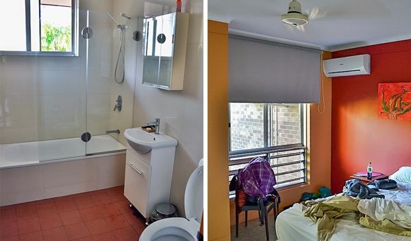 Phần lớn người Úc sống trong những ngôi nhà lớn có 3phòng ngủ.Kích thước trung bình của một ngôi nhàtại đất nước này khoảng 80-120 métvuông.Ngoài phòng ngủ, ngôi nhà điển hình còn bao gồm1 phòng khách, nhà bếp, phòng tắm, 2 phòng vệ sinh và nhà để xe.Một số hộ gia đình thiết kế riêng cho mình1 phòng giặt nhỏ và 1 phòng khách nữa.Tất cả các cánhcửa ở đâythường được làm bằng kính.