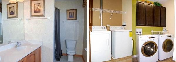 Nguyên tắc chính khi xây nhàở đây là số lượng phòng ngủ và phòng tắm phải bằng nhau. Trong một số ngôi nhà, mỗi phòng ngủ sẽ có riêng một tủ quần áo âm tường hoặc tháo rời.