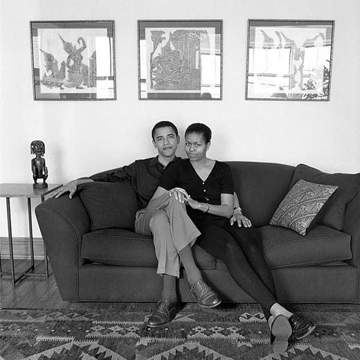 Barack Obama và Michelle Obama 4 năm sau ngày cưới, ngày 26 tháng 5 năm 1996.