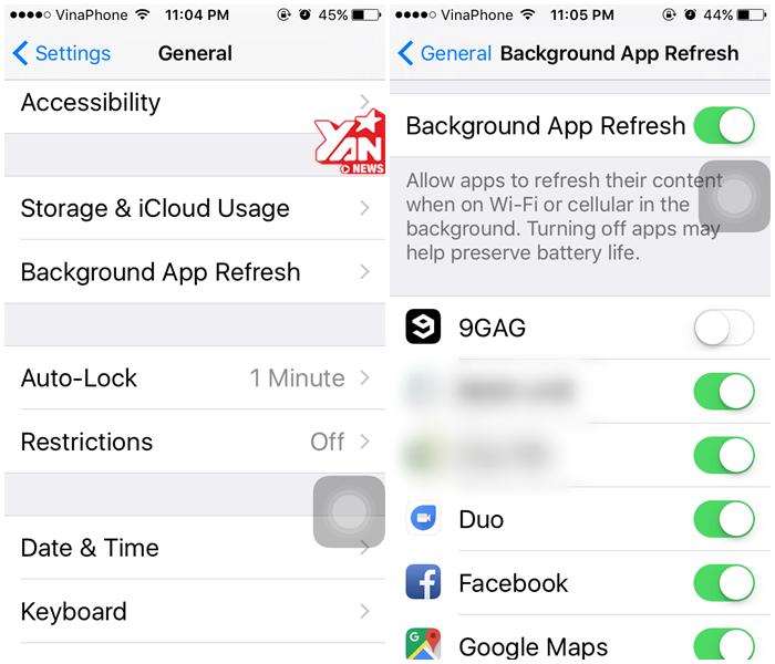 Tắt ứng dụng chạy ngầm trong đó có Facebook trên iPhone của bạn