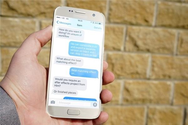 Sử dụng thiết bị Android để gửi tin nhắn đến thiết bị iOS (Ảnh: internet)