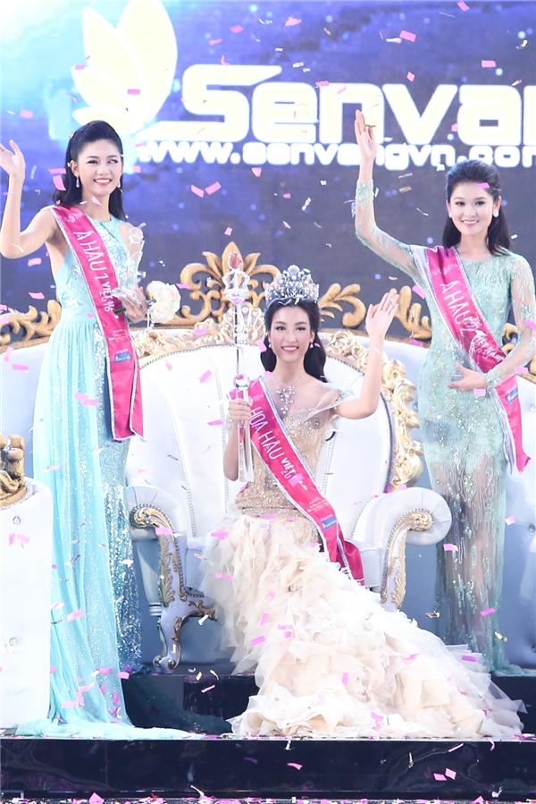 Danh hiệu Á hậu 1 thuộc về thí sinh Ngô Thanh Thanh Tú vàÁ hậu 2 Hoa hậu Việt Nam 2016 là thí sinh Huỳnh Thị Thùy Dung.