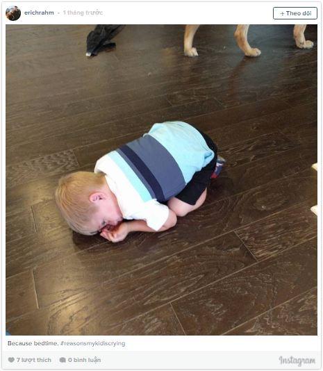 Khóc trước khi đi ngủ là căn bệnh phổbiến ở độ tuổi dở dở ương ương này.