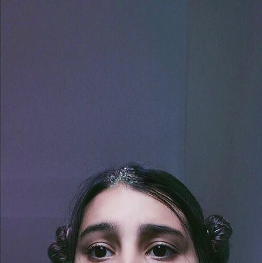 Đôi mắt to tròn đáng yêu.