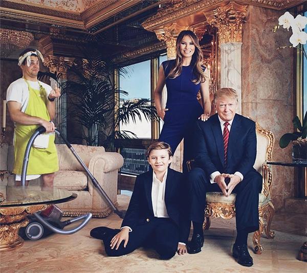Nhà Trump giàu nhưng làm lao công cho Trump chẳng hạnh phúc, sung sướng gì đâu. Ôm hận cả đời đấy nhé.