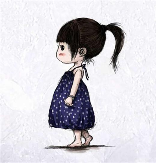 Ngày còn bé, để cho con gái một mái tóc dài, là mái tóc đáng yêu nhất trên đời.