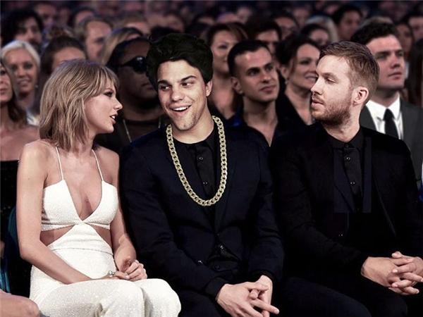 Rốt cuộc thì cư dân mạng cũng đã biết ai thực sự là người xen vào giữa Taylor và Calvin.