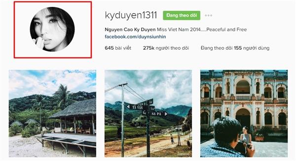 """Trên trang instagram của mình, Kỳ Duyên cũng cập nhật ảnh đại diện mới sau thời gian dài """"im hơi lặng tiếng"""". - Tin sao Viet - Tin tuc sao Viet - Scandal sao Viet - Tin tuc cua Sao - Tin cua Sao"""