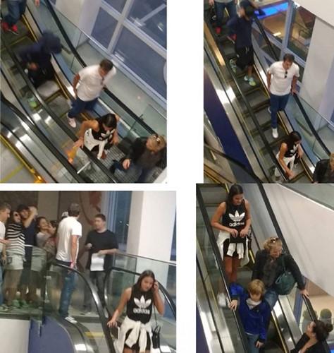 Bắt gặp cặp đôi cùng nhau ăn tối trong một trung tâm mua sắm ở Rio. (Ảnh: internet)