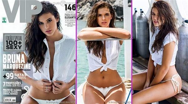 Bruna trên trang bìa tạp chí VIP. (Ảnh: internet)
