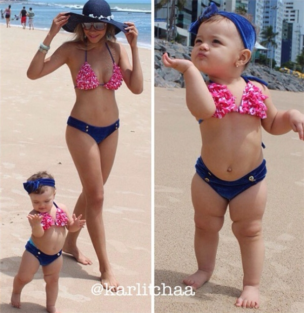 Với tài năng pose dáng điệu nghệ bẩm sinh này, có lẽ bé sẽ thay mẹ trở thành người mẫu trong nay mai thôi.