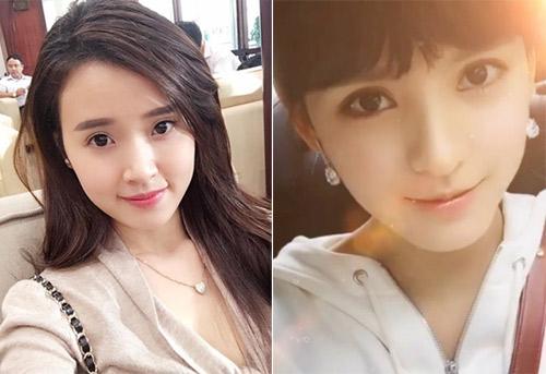 Cả hai đều sở hữu gương mặt trái xoan xinh đẹp và nét hiền dịu mong manh.