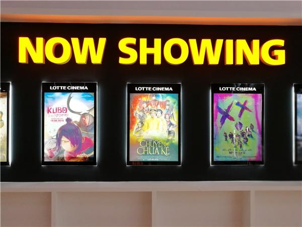 Tại Lotte Cinema – poster giới thiệuTấm Cámchiếm vị trí trung tâm và quan trọng nhất trong bảng giới thiệu phim đang chiếu