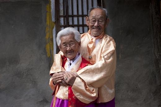 Cụ ông Jo Byeong Man và cụ bà Kang Gye Yeol.