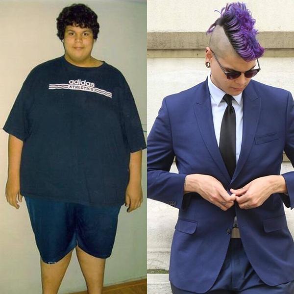 Matt trông điển trai và sành điệuhơn hẳn sau khi giảm cân thành công.