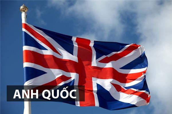 Quốc kỳ Vương quốc Liên hiệp Anh và Bắc Irelandlà do ba lá cờ của ba vùng đất Anh, Scotland và Irelandxếp chồng lên nhau thành một. Trong lá cờ có 3 chữ thập chồng chéo lên nhau, mỗi chữ thập tiêu biểu cho vị thánh thủ hộ của mỗi vùng đất nêu trên.