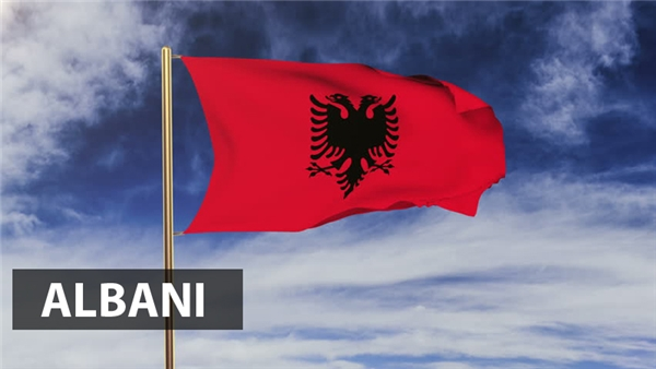 Đại bàng 2 đầu nổi bật trên nền cờđỏvốn là biểu tượng của Hạ viện Palaiologos,một trong những triều đại cai trị của đế quốc Byzantine từ xa xưa. Biểu tượng nàyđược sử dụng rộng rãi bởi các gia đình cao quý ở Albani từ thời Trung cổ và được duy trì làm quốc kỳ Albani cho tới ngày nay.