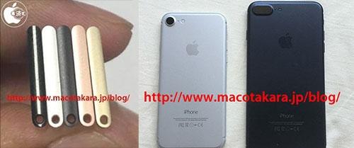 5 mẫu màu của iPhone 7. (Ảnh: internet)