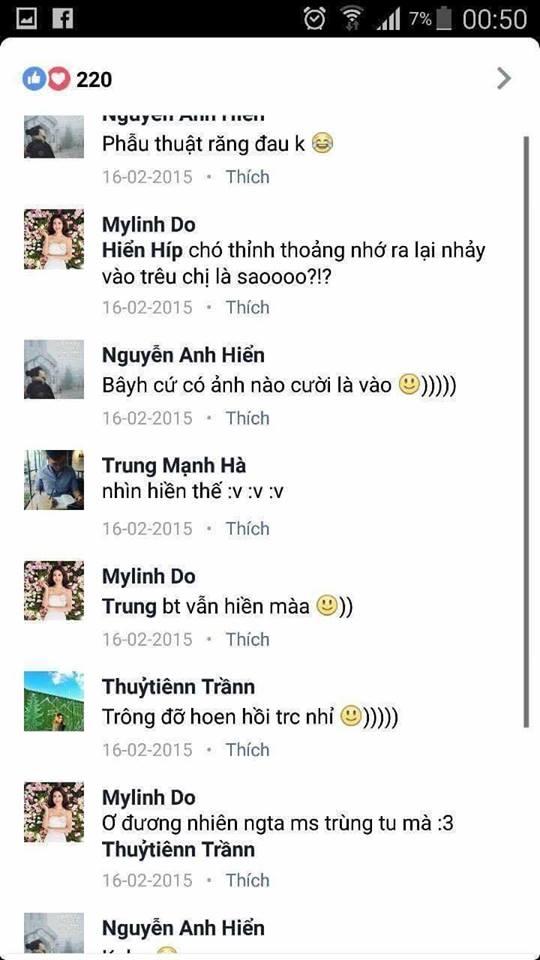 Những bình luận, chia sẻ trên mạng xã hội khiến Mỹ Linh rơi vào nghi án thẩm mỹ răng.