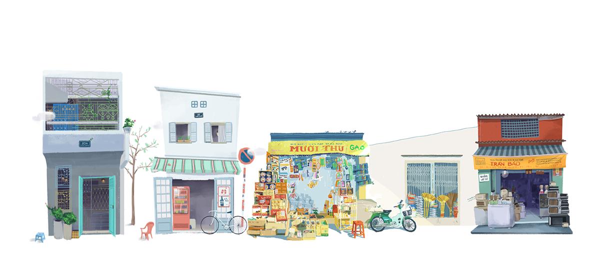Sài Gòn bé xinh như thế giới hoạt hình.